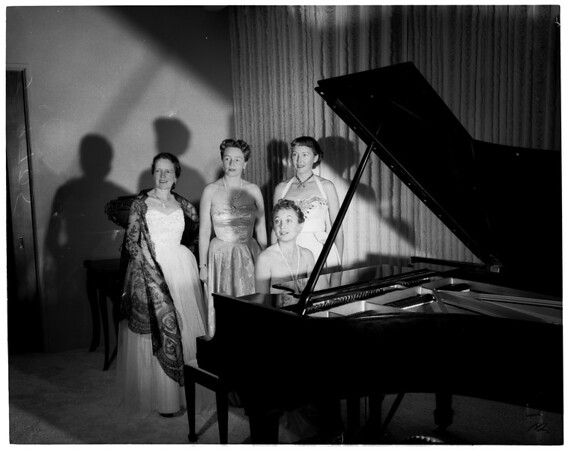 Los Angeles Chamber Symphony Party, 1952