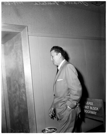 Matula back to jail, 1960