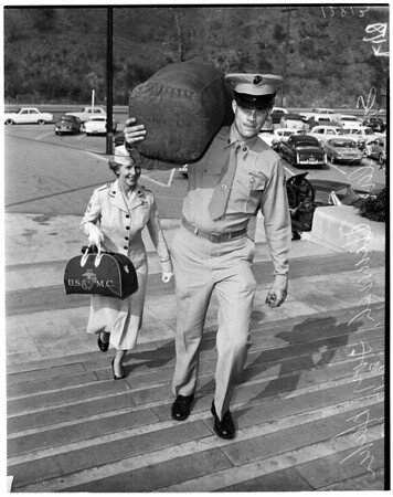 Marine battalion to Camp Pendleton, 1960