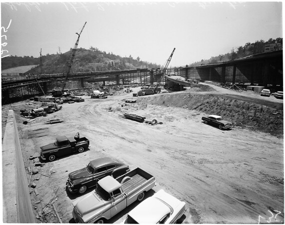Golden State Freeway construction, 1961