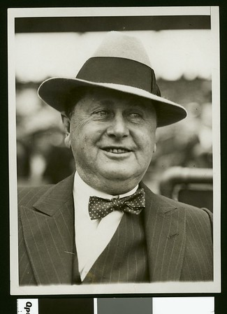 William Wrigley, Jr., owner of the Chicago Cubs, 1929
