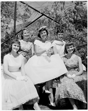 Wisteria Festival Queen and Princesses, 1959