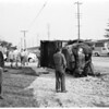 Truck versus auto accident at Slauson and Eastern Avenue, 1955