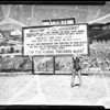 Tidelands warning sign at Long Beach, 1952
