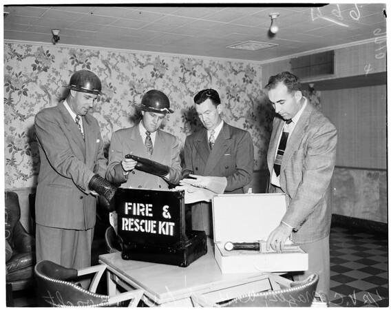 Pacific telephone and telegraph during air raid drill, 1952