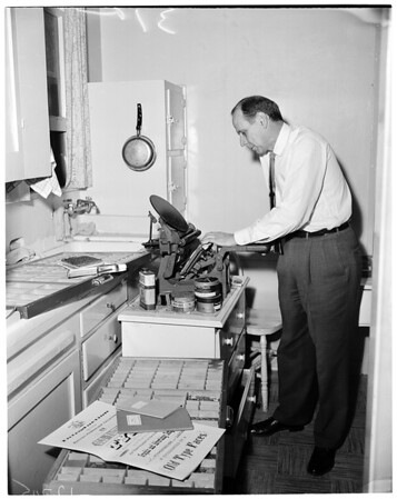 Sunday feature (librarian of Hoose Library of Philosophy at USC), 1960