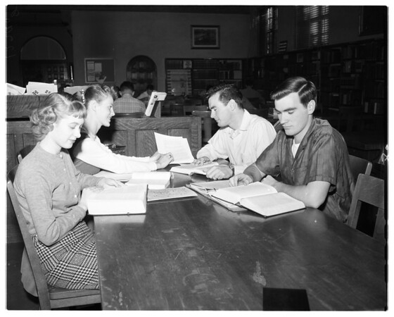 Teen-age married students at San Bernardino Valley College, 1958