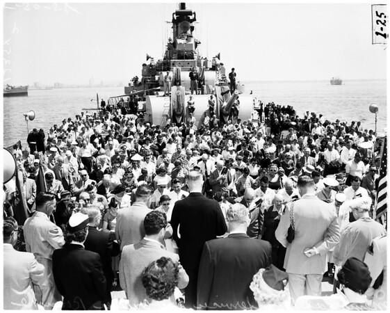 Memorial day in Long Beach Harbor, 1958