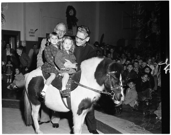 Salvation Army party, 1955