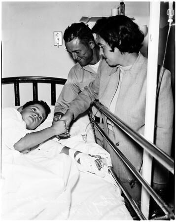 Hemophiliac victim, 1958