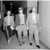 Shotgun slaying suspects arraignment (Kenneth Savoy), 1959
