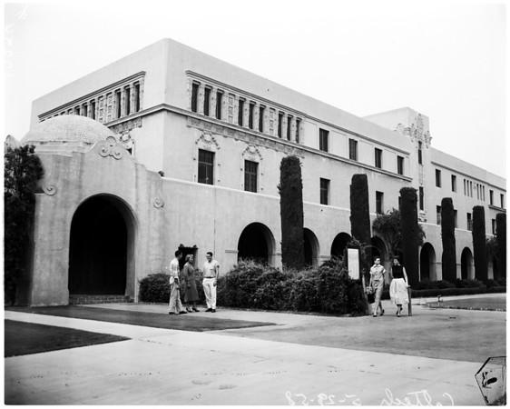 University feature (Caltech campus), 1958