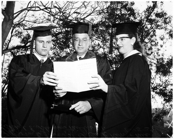 Occidental graduation, 1958