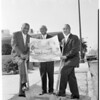 Groundbreaking for new housing project (adjacent to Pasadena and South Pasadena on Avenue 66), 1960