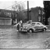 Valley rain Tyrone Avenue and Sylvan Street Van Nuys, 1952