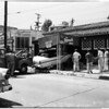 Car into Plymouth House restaurant, 1958