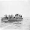 Raft Lehi V towed to Santa Monica, 1960