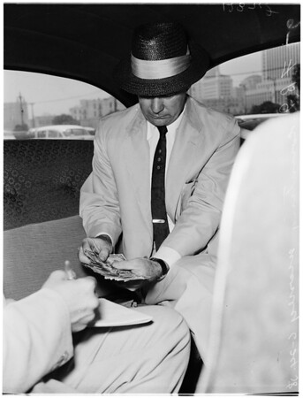 Bank bandit, 1958