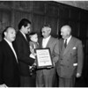 Fire Department award, 1958