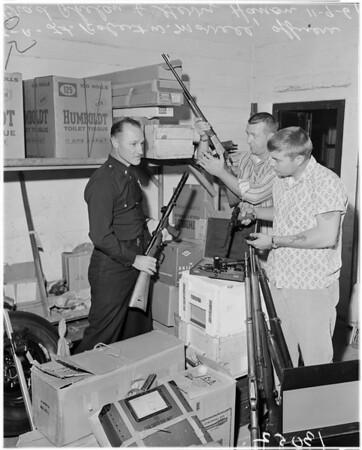 Found arsenal in man's car, 1961