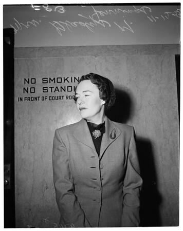 Bunco victim, 1952