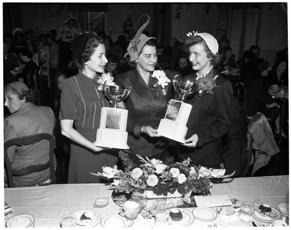 """Society"" -- Metropolitan Panhellenic scholarship luncheon, 1952"