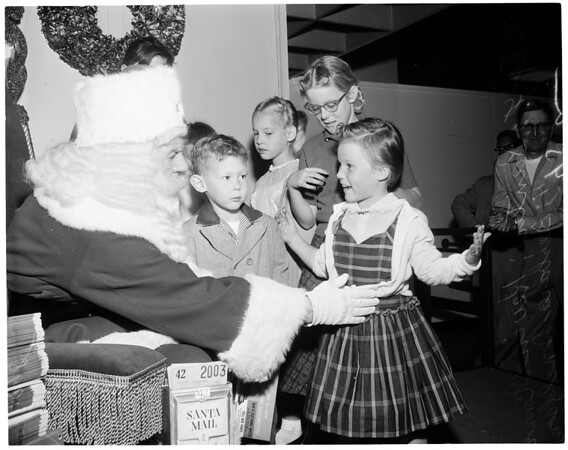 Santa Claus in Downtown department store, 1957