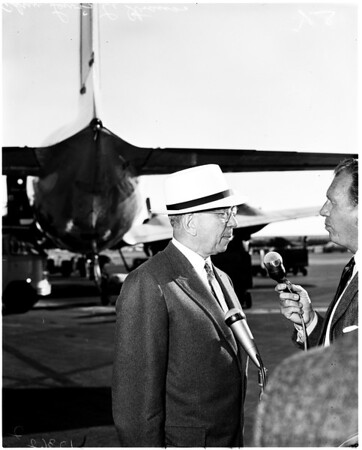 Arrival at International airport, 1958