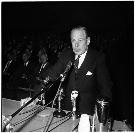 Smog hearing at Board of Supervisors, 1961.