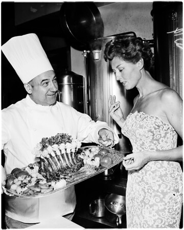 Society -- Food feature, 1958