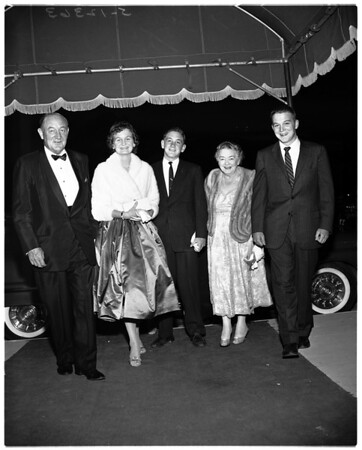 At Moisoyev (Russian) Dance Company opening in Los Angeles, 1958