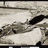 Scene of the tidal damage at Venice, CA, 1942