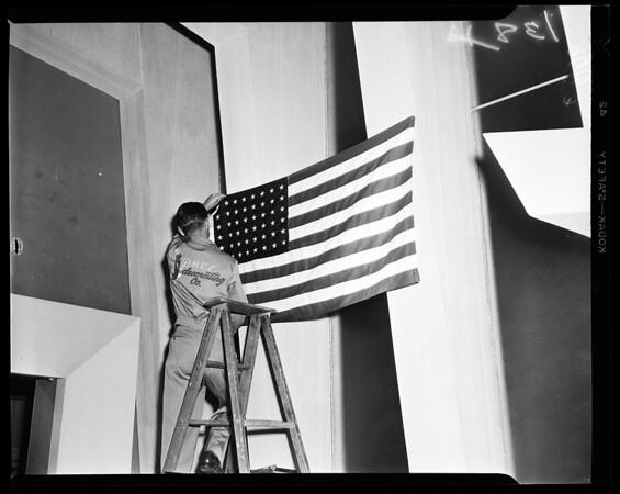 Proper way to display flag, 1952