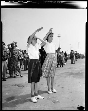 Ship arrival from Korea, 1951