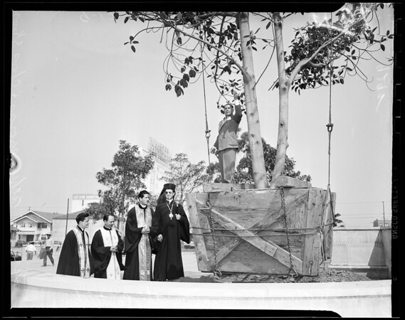 Greek church landscaping, 1951