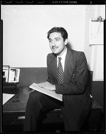 Visiting editor from Pakistan, 1951
