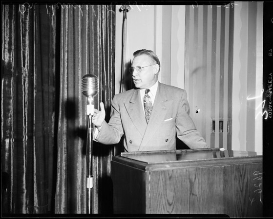 Board of Education hearing, 1952