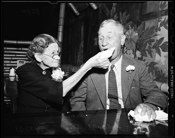 Sixty-first wedding anniversary, 1951