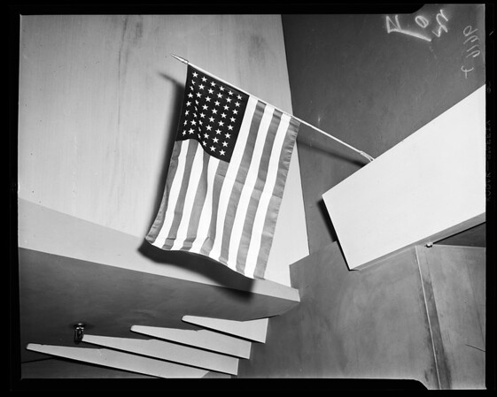 Proper way to display flag, 1952