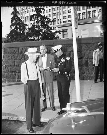 Auto crash, Temple Street, 1951