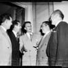 Billy Graham meets 400 ministers, Hollywood Presbyterian Church, 1951