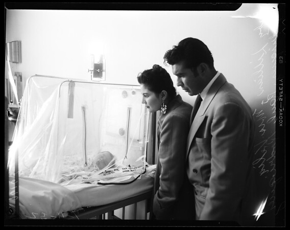 Rodriguez baby operation (Lillian Rodriguez), 1954