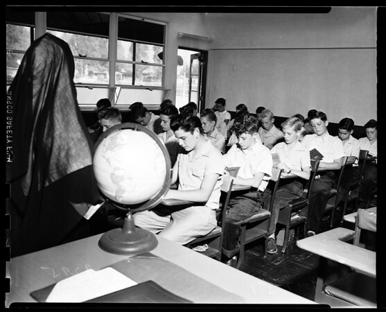 Back to school -- Saint Francis De Sales, Sherman Oaks, 1951