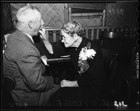 Sixty-first wedding anniversary, 1951