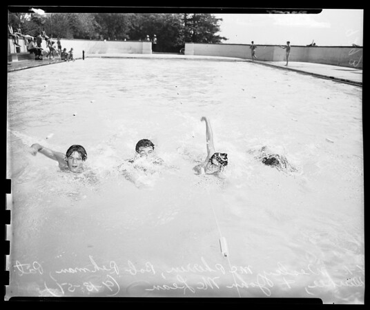 Swimming meet at McKinley Home for Boys (Sherman Oaks), 1951