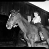 "Boy wants summer home for his horse ""Captain Fury"", 1952"