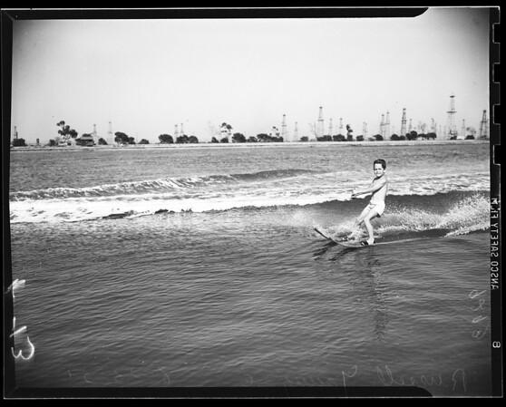 Water skiing, 1951