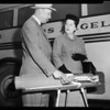 Anti-smog mufflers being installed on San Fernando Valley School buses, 1956