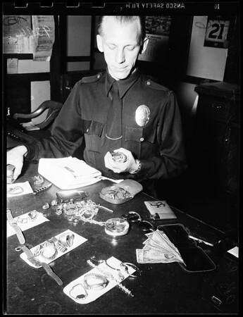 Burglary suspect, 1951