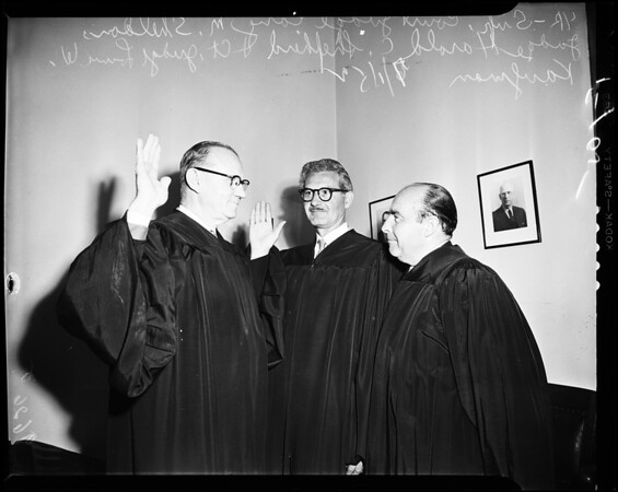 New judge of Municipal Court, 1952